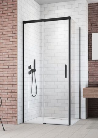 Radaway Idea Black KDJ szögletes fekete zuhanykabin