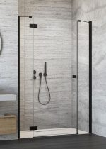 Radaway Essenza New Black DWJS fekete zuhanyajtó