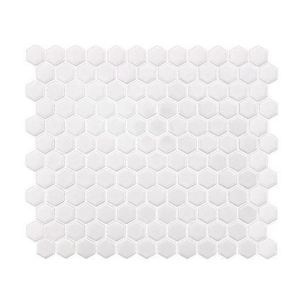 Hexagon White Mini 30x26 mozaikcsempe
