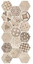Hexatile Cement Garden Sand 17,5x20 hatszögletű járólap dekor
