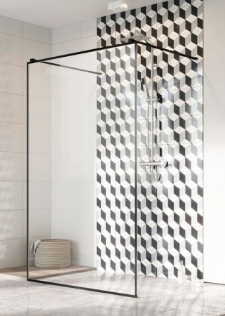Radaway Modo New Black I Frame -fekete zuhanyfal