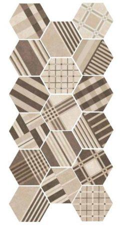 Hexatile Cement GEO Sand 17,5x20 hatszögletű járólap dekor
