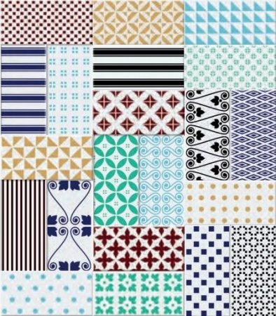 Clichy Blanco 10x20 metró dekorcsempe mix