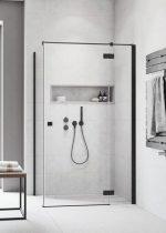 Radaway Essenza New Black KDJ szögletes fekete zuhanykabin