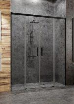 Radaway Idea Black DWD fekete zuhanyajtó