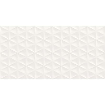 Fantasy Bianco  Satinato Struttura Prisma 3D R57F 30x60