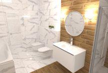 3D fürdőszoba látványterv