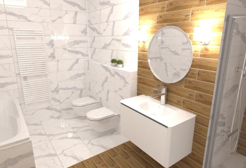 3D fürdőszoba látványterv - Csempehegyek webáruház