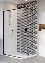 Radaway Modo New Black II Frame -fekete zuhanyfal