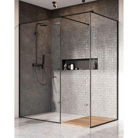 Radaway Modo New Black III -fekete zuhanyfal