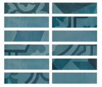 Marazzi D_Segni Blend Azzurro Listello M8WW 5x20