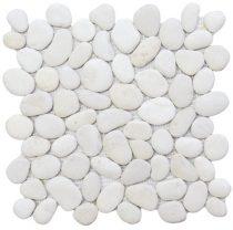 Piedra Extra blanca 30x30 kavicsmozaik