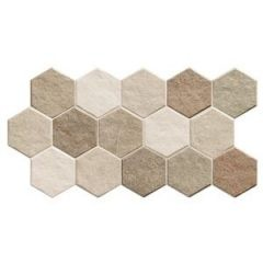 Stonegenge Hex Earth 26,5x51 hexagon mintás járólap