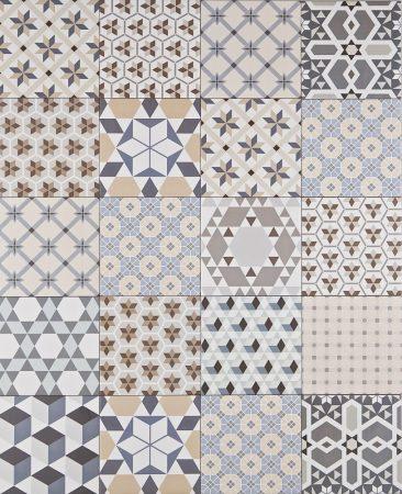 Bistro Mix 20x20 patchwork mintás cementlap hatású járólap