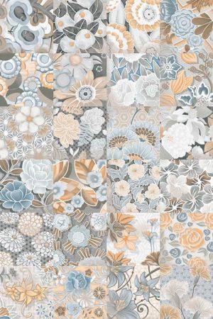 vodevil flore gris cementlap mintás járólap