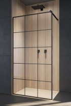 Radaway Modo New Black II Factory Walk-in fekete zuhanyfal
