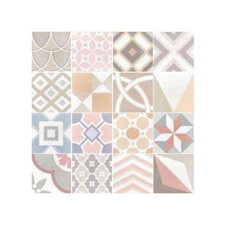 Patchwork pastel 20x20 cementlap hatású járólap