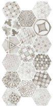 Hexatile Cement Garden Grey 17,5x20 hatszögletű mintás járólap