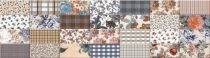 Soult multikolor 10x20 metró dekorcsempe mix