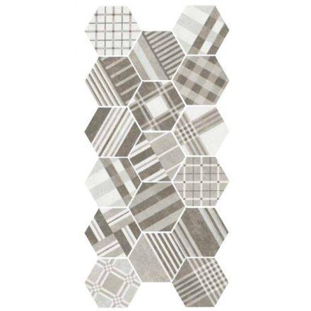 Hexatile Cement GEO Grey 17,5x20 hatszögletű járólap dekor
