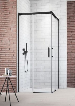 Radaway Idea Black KDD szögletes fekete zuhanykabin