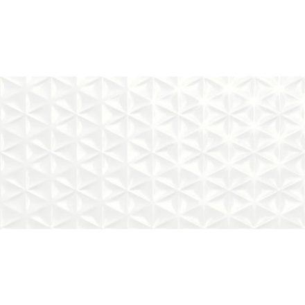 Fantasy Bianco Lux Struttura Prisma 3D R57G 30x60