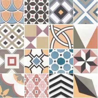 Patchwork colours 20x20 cementlap hatású járólap