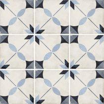 Art Nouveau Arcade Blue 20x20
