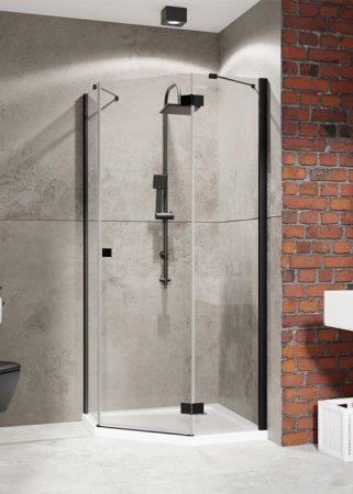 Radaway Essenza New Black PTJ szögletes fekete zuhanykabin