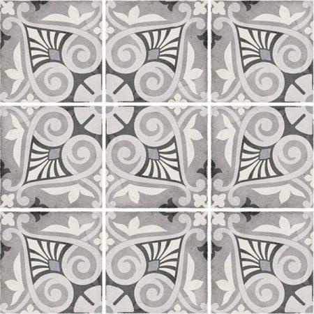 Art Nouveau Opera Grey 20x20