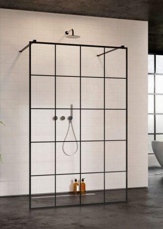 Radaway Modo New Black I Factory - fekete zuhanyfal