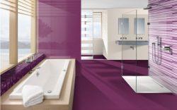 Lila fürdőszobák