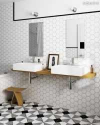 Hatszögletű hexagon falicsempe